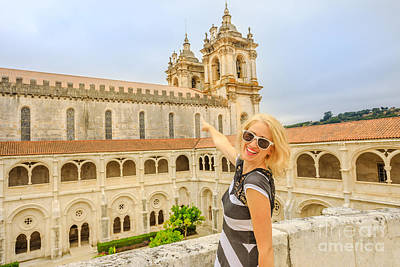 Photograph - Woman At Alcobaca Monastery by Benny Marty
