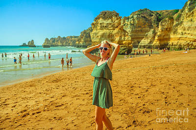 Photograph - Woman At Dona Ana Beach by Benny Marty