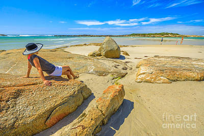 Photograph - Woman At Madfish Bay Australia by Benny Marty
