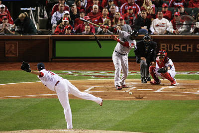 Photograph - World Series - Boston Red Sox V St by Rob Carr