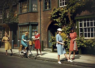 Photograph - World War II. Fashion. Pic June 1943 by Popperfoto