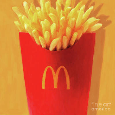 Photograph - Worship The Golden Mcdonalds French Fries Arch Pop Art 20180920  by Wingsdomain Art and Photography