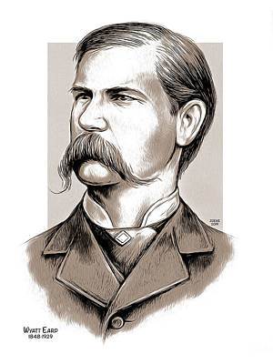 Mixed Media Rights Managed Images - Wyatt Earp Royalty-Free Image by Greg Joens