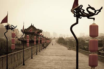 Xian City Wall, China Art Print by Fototrav