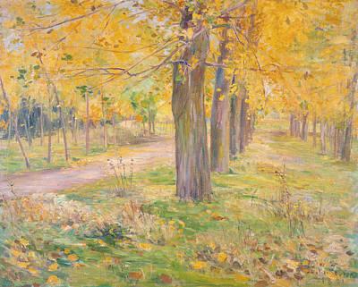 Painting - Yellow-leafed Poplars by Kuroda Seiki