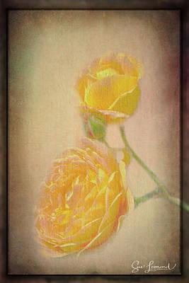 Photograph - Yellow Roses by Susan Leonard