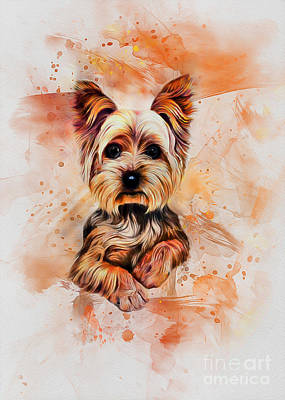 Digital Art - Yorkshire Terrier by Ian Mitchell