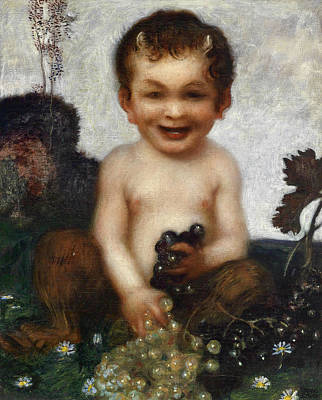 Fertility Symbols Wall Art - Painting - Young Faun by Franz von Stuck