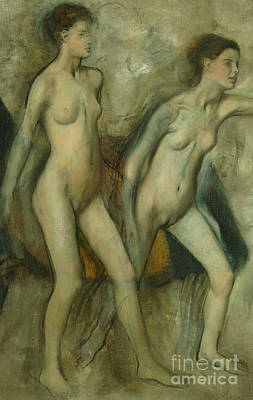 Painting - Young Spartan Girls Provoking Boys by Edgar Degas