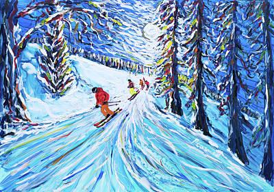 Painting - Zermatt Ski Poster by Pete Caswell