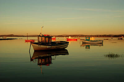 Photograph - 10/11/13 Morecambe. Boats On The Bay. by Lachlan Main