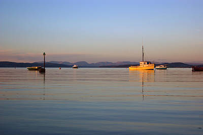 Photograph - 10/11/13 Morecambe. Fishing Boats Moored In The Bay. by Lachlan Main