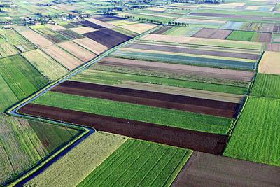 Photograph - Aerial Photo Of Farmland by Dariuszpa