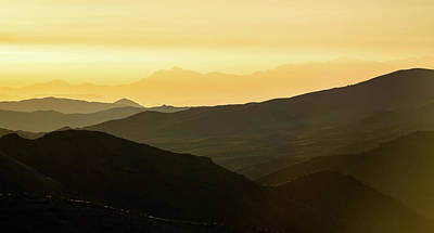 Photograph - Beautiful Sunrise Over Mountain Layers Over Death Valley Nationa by Alex Grichenko