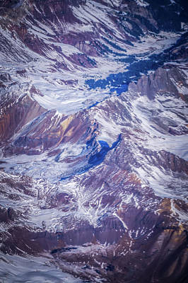 Photograph - Flying Over Colorado Rocky Mountains by Alex Grichenko