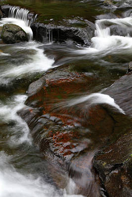 Photograph - Stream And Rocks by Les Cunliffe
