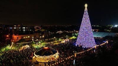 Photograph - 100 Ft. Christmas Tree Delray Beach Florida by Lawrence S Richardson Jr