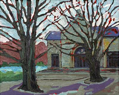 Painting - 1000 Islands Village Chapel by Phil Chadwick