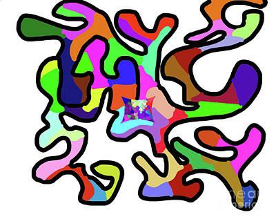 Digital Art - 11-30-2008zabcdefghijkl by Walter Paul Bebirian