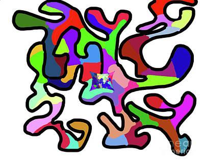 Digital Art - 11-30-2008zabcdefghijklm by Walter Paul Bebirian
