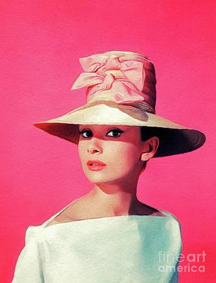 Royalty-Free and Rights-Managed Images - Audrey Hepburn, Vintage Movie Star by Esoterica Art Agency