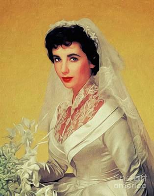 Royalty-Free and Rights-Managed Images - Elizabeth Taylor, Vintage Movie Star by Esoterica Art Agency