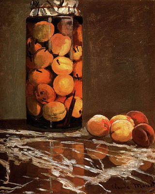 Israeli Flag - Jar Of Peaches by Claude Monet