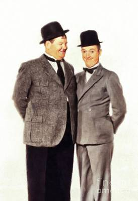 Christmas Cards - Laurel and Hardy, Hollywood Legends by Esoterica Art Agency