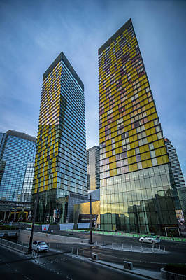 Photograph - Modern Style Architecture And Other Buildings In Las Vegas Nevad by Alex Grichenko