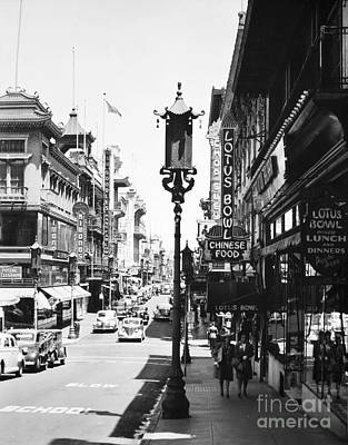 Photograph - San Francisco - Chinatown by Granger