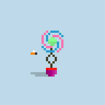 Digital Art - #117 Joey - Pixel.Flowers by Roscoe Hart and Adam Oriti