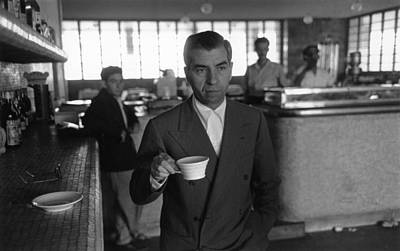 Drinking Photograph - Lucky Luciano by Slim Aarons