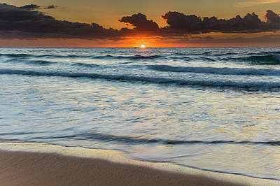 Photograph - Sunrise Beach Seascape by Merrillie Redden