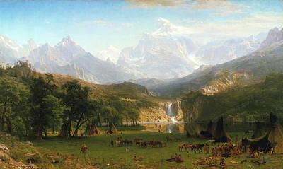 Painting - The Rocky Mountains, Lander's Peak by Albert Bierstadt