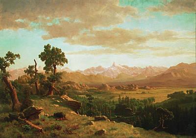 Painting - Wind River Country by Albert Bierstadt