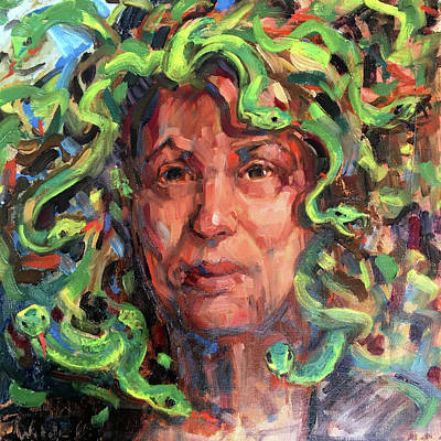 Painting - 120 Self Portrait-madusa by Pamela Wilde