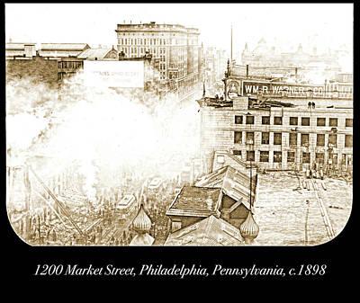 Photograph - 1200 Market Street, Philadelphia, Pennsylvania, C.1898 by A Gurmankin
