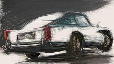 Animal Portraits - Aston Martin DB5 Draw by CarsToon Concept