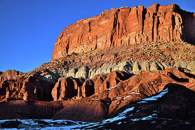 Photograph - Capitol Reef Sunset by Ray Mathis