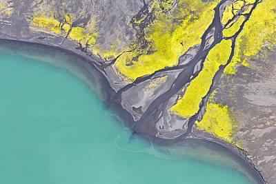 Photograph - Iceland Aerial View by Werner Van Steen