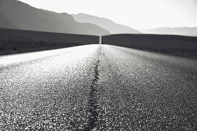 Photograph - Lonely Road In Death Valley National Park In California by Alex Grichenko