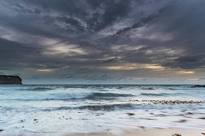 Photograph - Sunrise Seascape And Cloudy Sky by Merrillie Redden