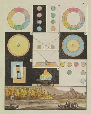 Photograph - Johann Von Goethe, Theory Of Colors by Science Source
