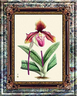 Kitchen Mark Rogan - Vintage Orchid Antique Design Marble Granita by Baptiste Posters