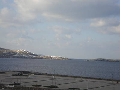 Mountain Landscape Rights Managed Images - Mykonos Greece Royalty-Free Image by GiannisXenos Photography