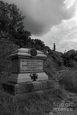 Photograph - 146th New York Infantry Monument Little Round Top Hill Gettysburg by James Brunker