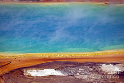 Photograph - 1483 Grand Prismatic Spring by Steve Sturgill