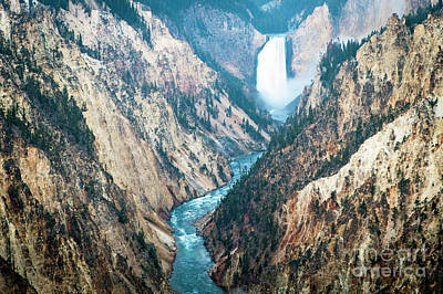 Photograph - 1493 Lower Falls Grand Canyon Of Yellowstone by Steve Sturgill