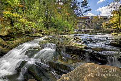 Science Collection Rights Managed Images - Beautiful Berea Falls In Autumn Royalty-Free Image by Michael Shake