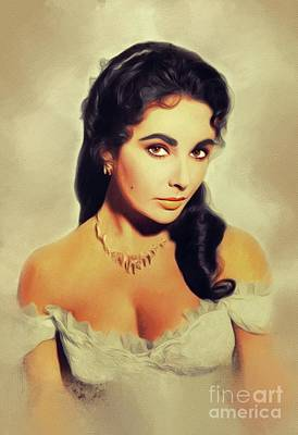 Actors Royalty-Free and Rights-Managed Images - Elizabeth Taylor, Vintage Movie Star by John Springfield